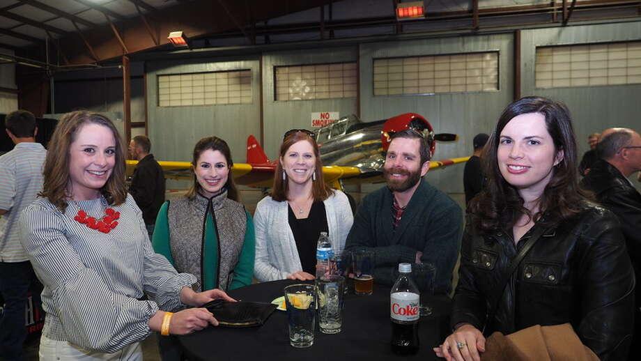 Hops & Props: Niki Akin, from left, Elana Ladd, Kaci Stretcher, John Stretcher and Sarah Harris Photo: Courtesy Photo