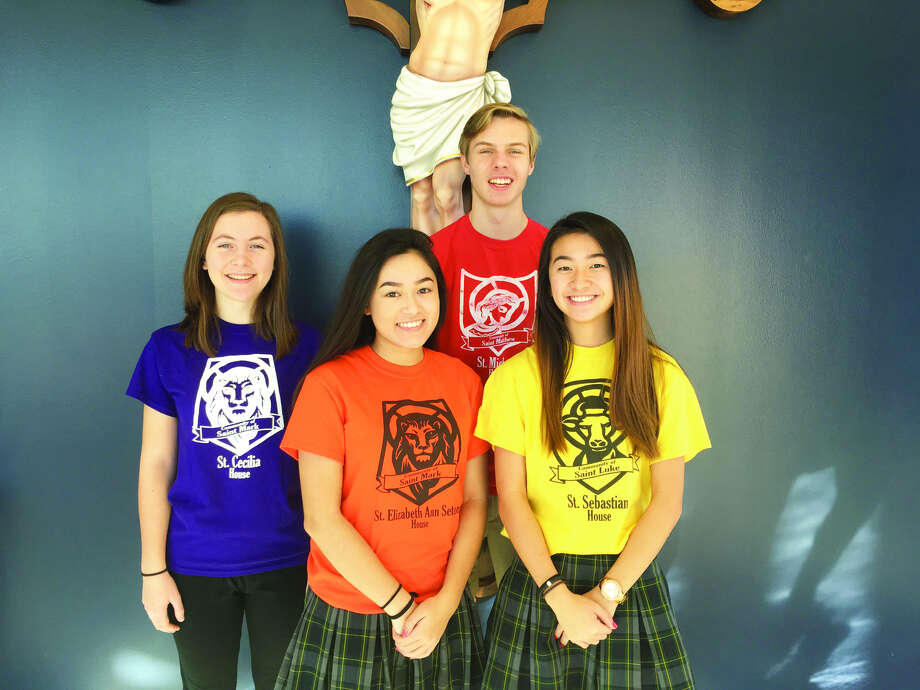 Father McGivney Catholic High School's Summa Cum Laude graduates are: Teresa Barz, Simeona Rasp, Noah Pirtle and Magdalynn Fine
