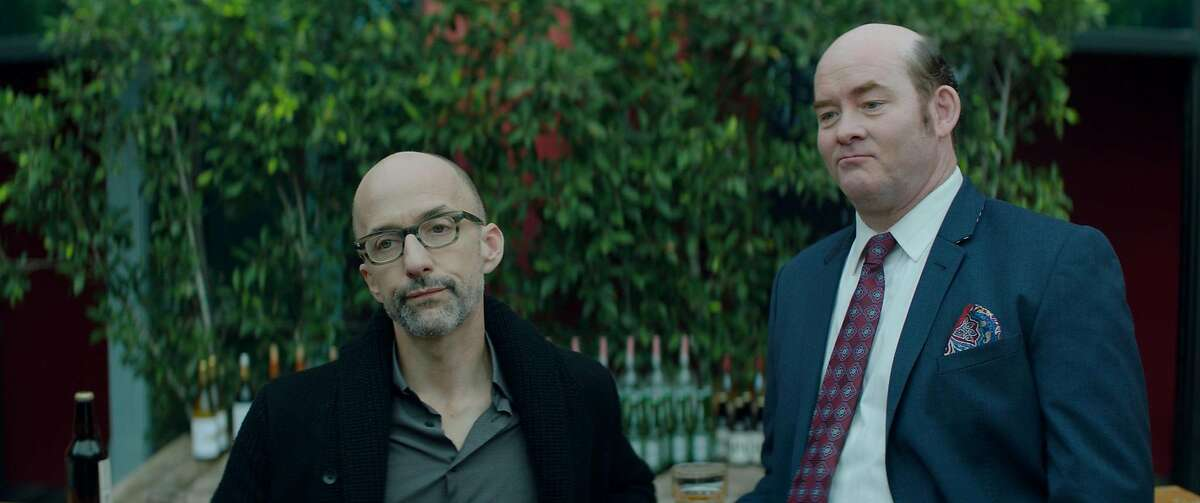 """Jim Rash (left) is Bernard and David Koechner is Huey in """"Bernard and Huey"""" directed by Dan Mirvish and written by Jules Feiffer. (Courtesy of Bugeater Films)"""