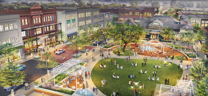 Market Street in The Woodlands is getting a makeover, which include a revitalized Central Park green space with synthetic turf, expanded seating areas, pergolas and outdoor sculptures. The property also will have updated lighting, signage and landscaping.