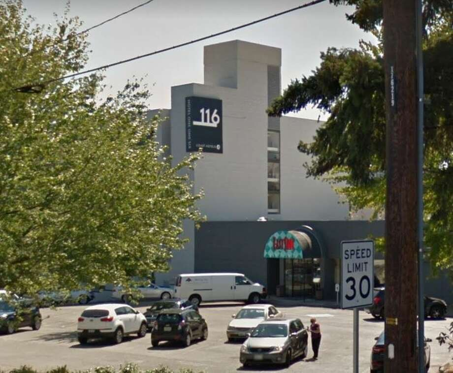 Bellevue police are investigating an accidental shooting in which a 25-year-old Marysville man shot himself in the head at Hotel 116. Photo: Google Maps