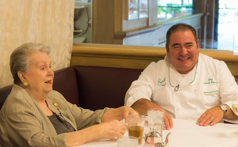 "Ella Brennan and one of her superstar chefs, Emeril Lagasse. From the documentary ""Ella Brennan: Commanding the Table,"" a new film by Oscar-nominated director Leslie Iwerks. Photo: Tiffany McEntee Photography / Tiffany McEntee Photography"