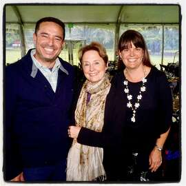 SF Rec & Park GM Phil Ginsburg (left) with Alice Waters and Botanical Garden Director Stephanie Linder at Garden Feast. May 23, 2018.