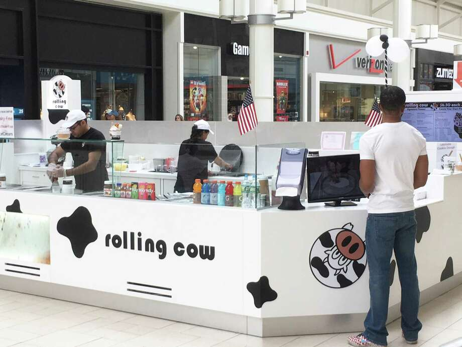 Rolling Cow's new ice cream stand at Danbury Fair mall in Danbury, Conn., on June 4, 2018. Photo: Alexander Soule / Hearst Connecticut Media / Stamford Advocate
