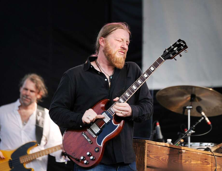 Derek Trucks of the Tedeschi Trucks Band during the Greenwich Town Party at Roger Sherman Baldwin Park in Greenwich last month. Photo: File Photo / Greenwich Time Freelance