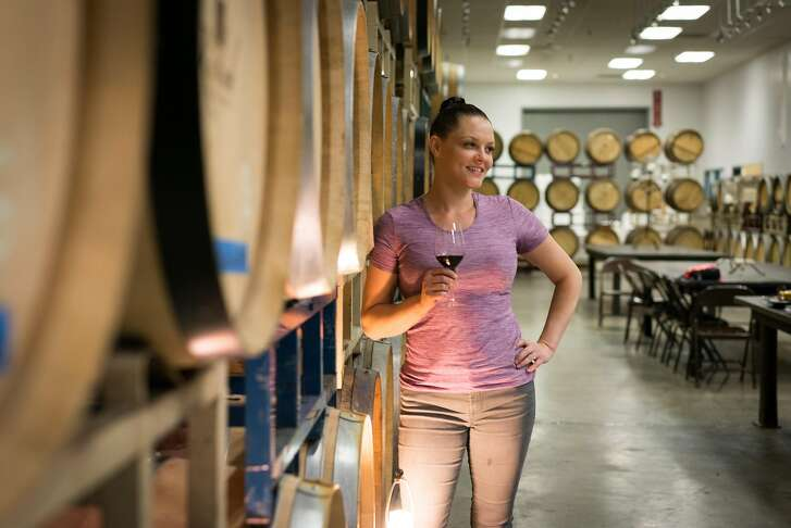 Ashley Pierce, 32, is the chief wine maker and level two sommelier at the Moseley Family Cellars in Redding, Calif. on Friday, June 1, 2018.