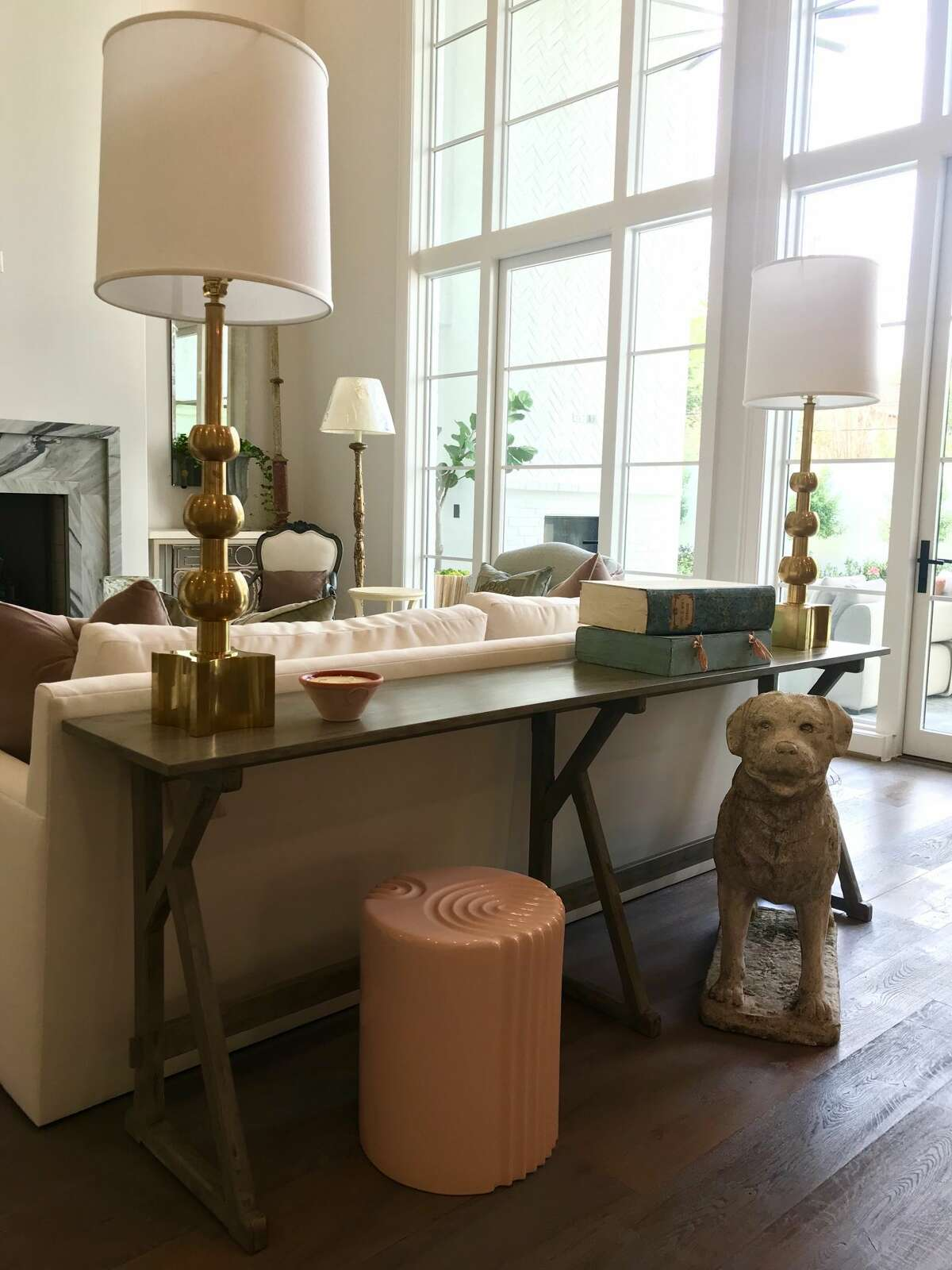This living room furniture in a spec home will be sold in a silent auction to raise money for Houston PetSet.