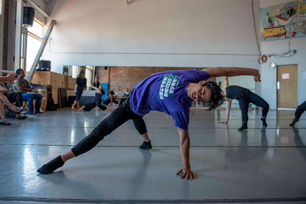 Adonis Martin Qui�ones rehearses with the Alayo Dance Company for the world premiere of �Calle� at the upcoming Cuba Caribe Festival, in San Francisco on Friday, June 1, 2018.