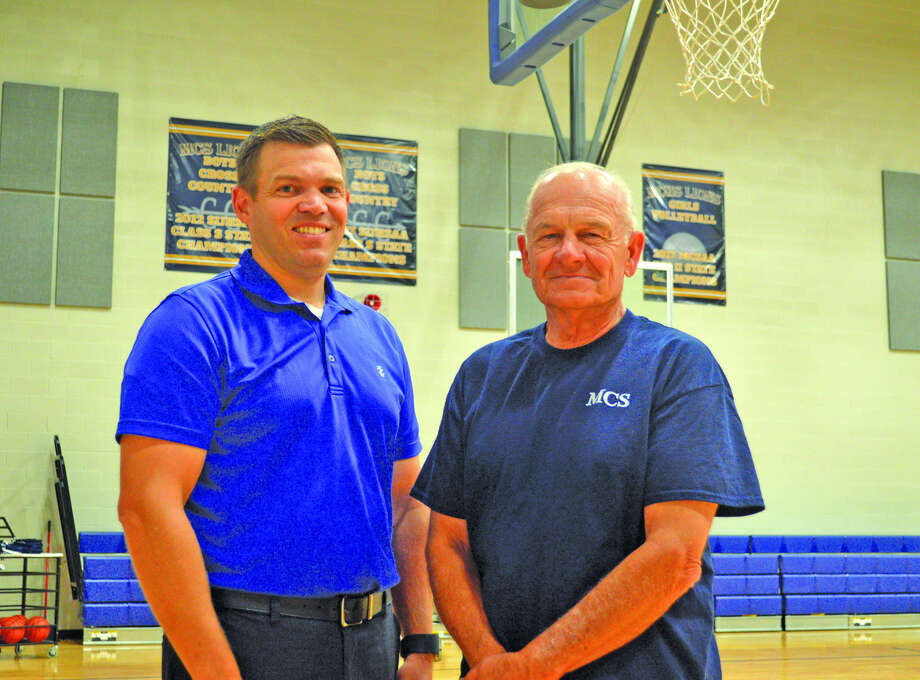 Chad Laughlin, left, is the high school principal at Maryville Christian School while Steve McFall is the athletic director. The school, which will have its first senior class in 2019, is rapidly growing its athletic program.
