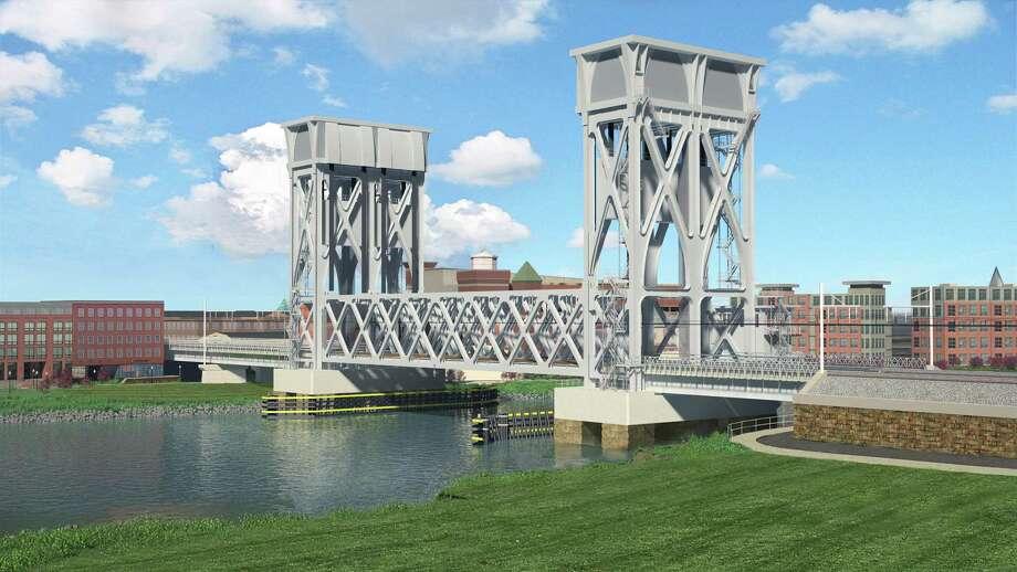 The lastest artist's rendering of the Walk Bridge over Norwalk Harbor. Photo: Contributed / Connecticut Department Of Transportation