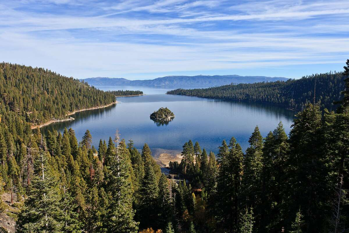 Lake Tahoe, seen here from Emerald Bay, was one of the primary validation sites for the global lake study. The lake, which straddles the borders of California and Nevada, is the largest alpine lake in North America.