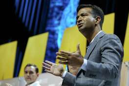 Congressman Carlos Curbelo from Florida participates in a panel during the Maverick PAC's annual meeting at the Moody Theater in Austin, Texas on Saturday, June 2, 2018. MavPAC was founded by a group of young political fundraising bundlers in Texas in 2004 and more than 200 hundred members from over a dozen states are expected to attend.