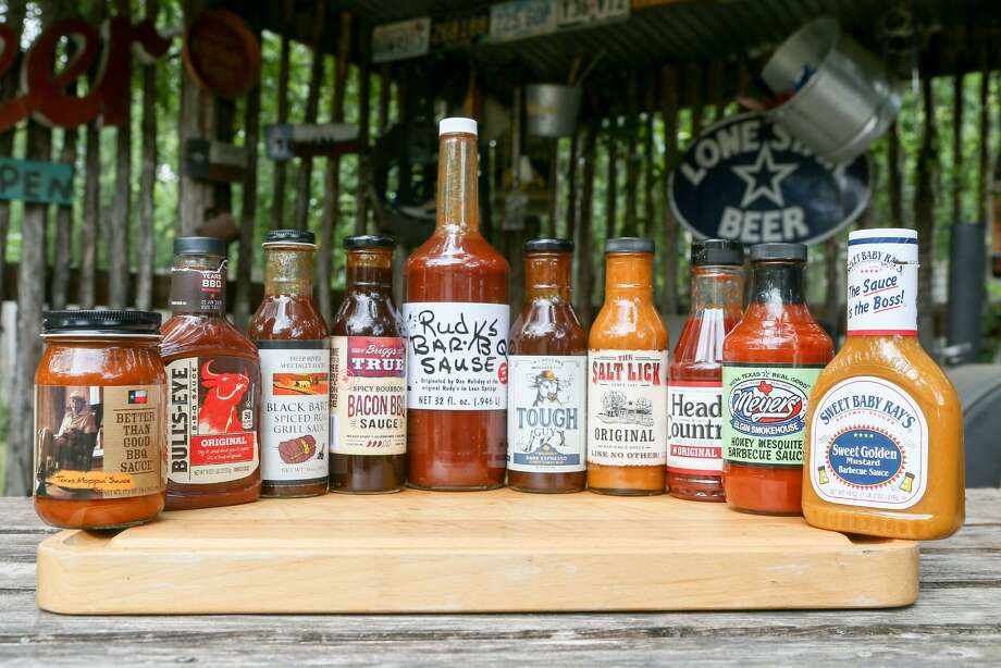 There is a large selection of barbecue sauces stocked in local grocery markets. Most are ketchup based, but others use heavy vinegar and mustard. These sauces can hold up on their own, but can also be used as a base for your own experimentation. Photo: Marvin Pfeiffer /San Antonio Express-News / Express-News 2018