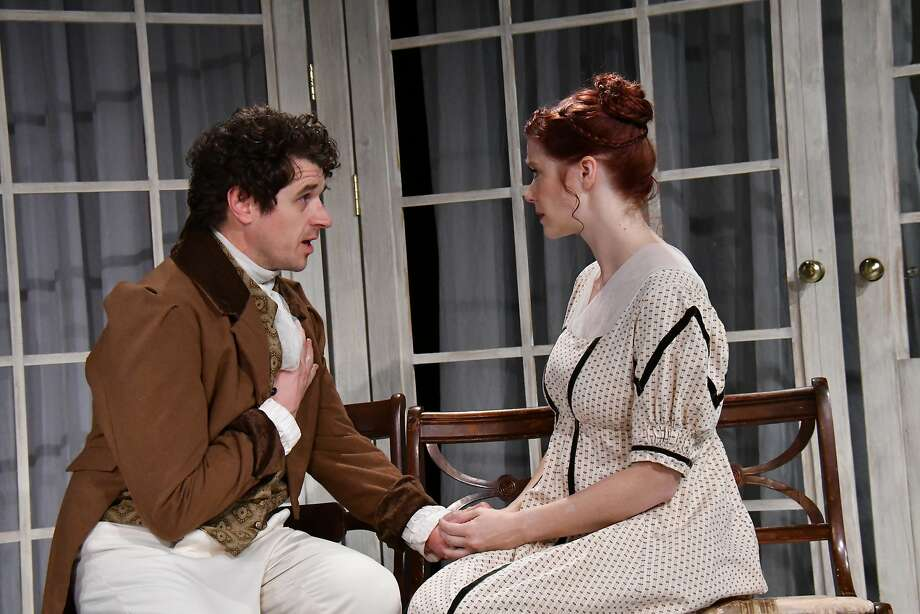 "Nathan Emley (left) and Heather Buck in in Town Hall Theatre Company's ""Sense and Sensibility."" Photo: Jay Yamada / Town Hall Theatre Company"
