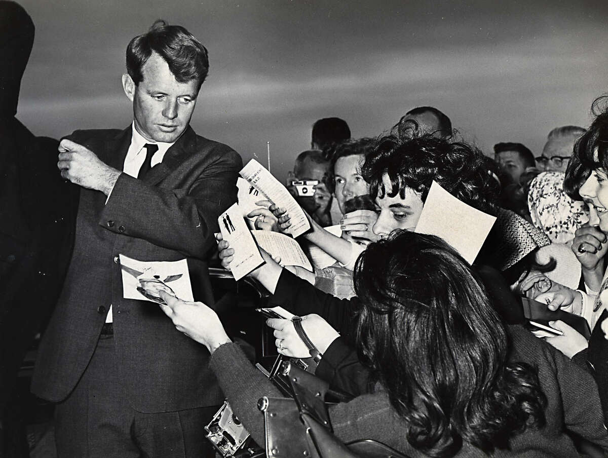 Sen. Robert F. Kennedy during his visit to Schenectady, N.Y. on Sept.19, 1964. (Times Union archive)