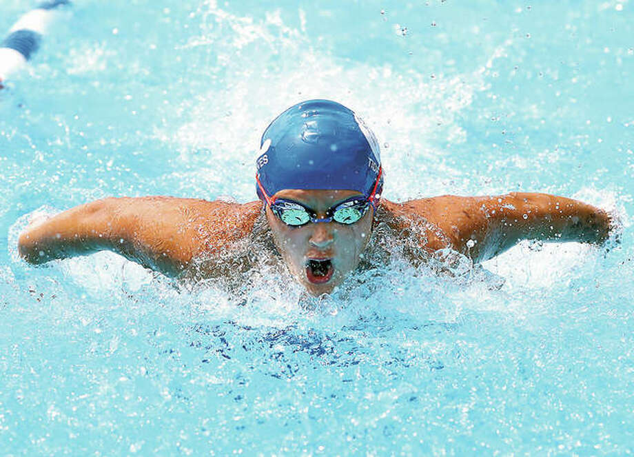 Anna Moehn is one of the strong core of returning Summers-Port swimmers this season. The defending Southwestern Illinois Swim Association champions will begin the season June 14 against Water Works of Edwardsville. Photo:       Telegraph File Photo