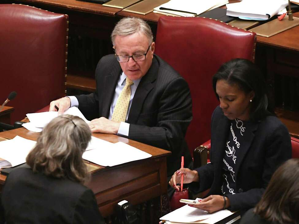 New York State Senator John DeFrancisco, who oversees the Republican floor efforts, surprised the chamber with a veto override motion. (Lori Van Buren/Times Union)