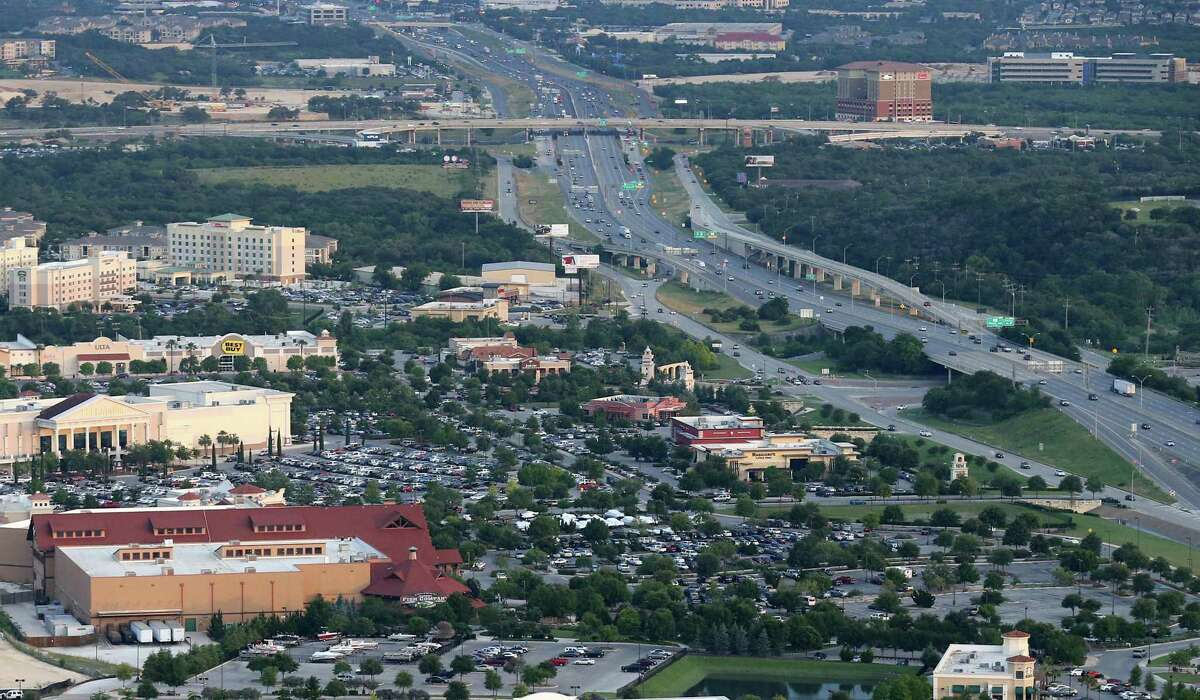 Aerial view of The Rim area in 2016. A city of San Antonio climate action plan doesn't take into full account how much the city's growth strategies has affected the environment - and left it one of the most economically segregated cities in the country.