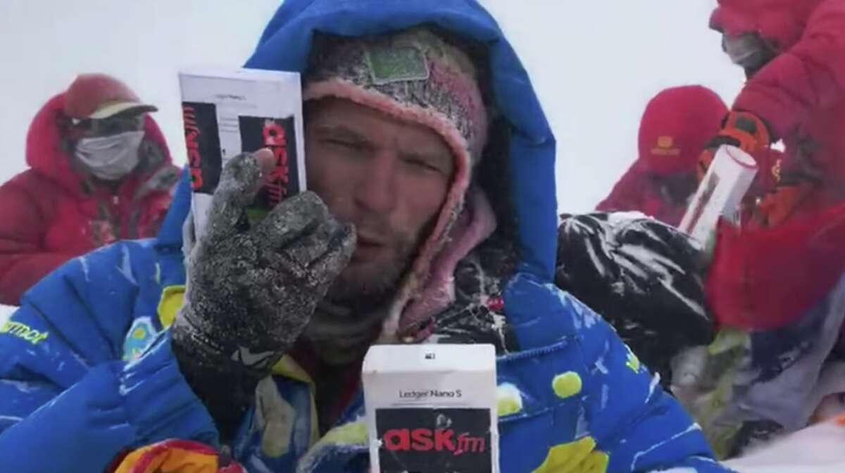 Taris Pozdnii, the man in the video suffered multiple instances of frost bite on his fingers and feet, but recovered.