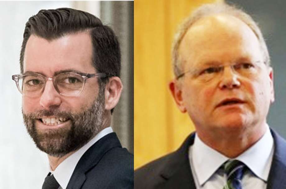"""Daron Morris and Dan Satterberg, opponents in what was shaping up as a positive, interesting contest for King County Prosecutor. But Morris announced Friday he was suspending his campaign for """"medical reasons."""""""