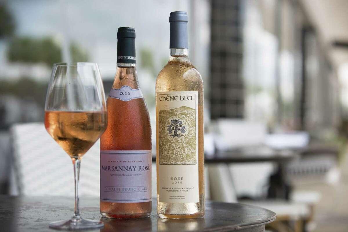 Chêne Bleu Rosé and Domaine Bruno Clair Marsannay Rosé at Brasserie 19