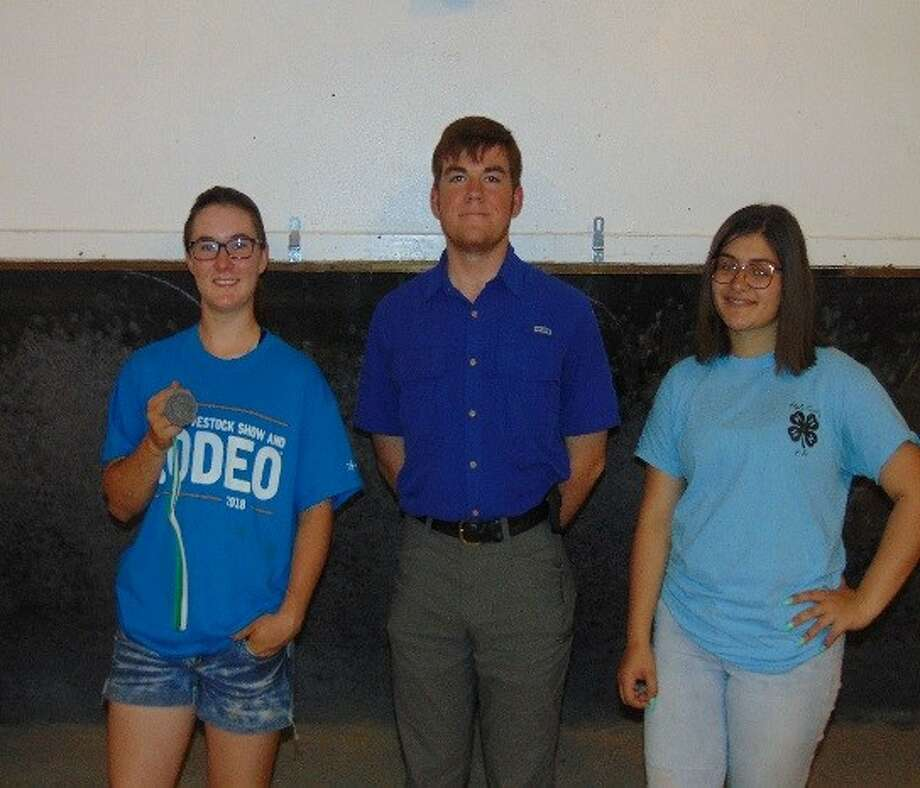 Hale County 4-H Senior team placed second at the district contest and will advance to state on June 9-10. Members include Hannah Hooper (left), Ben Bozeman and Jadyn Halencak. Photo: Courtesy Photo