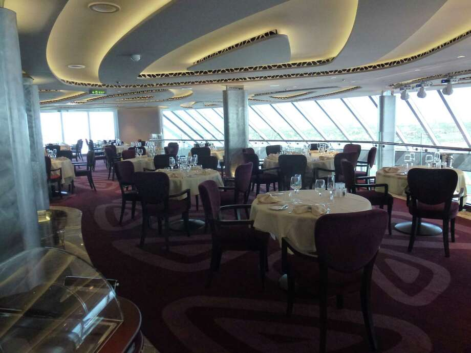 A view of the private Yacht Club restaurant aboard the new MSC Seaside. Photo: Courtesy Si Liberman