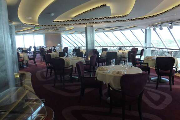 A view of the private Yacht Club restaurant aboard the new MSC Seaside.