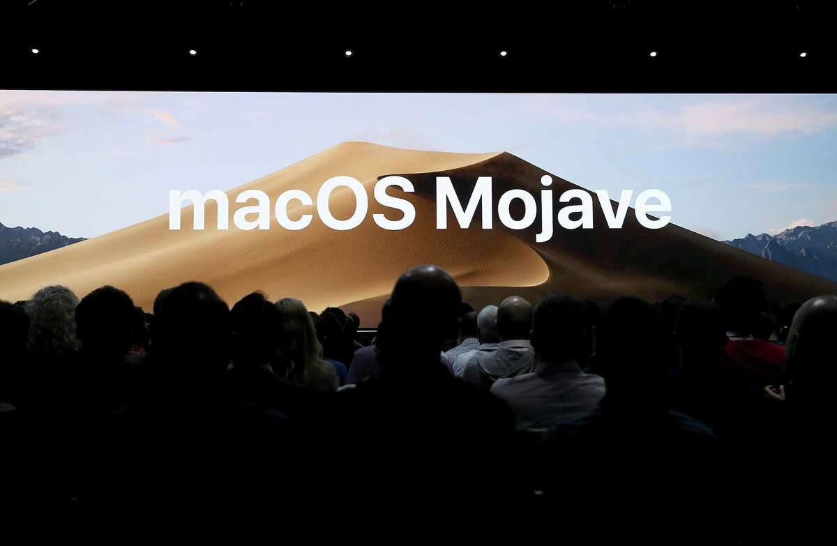 SAN JOSE, CA - JUNE 04: Mac OS Mojave is announced during the 2018 Apple Worldwide Developer Conference (WWDC) at the San Jose Convention Center on June 4, 2018 in San Jose, California. Apple CEO Tim Cook kicked off the WWDC that runs through June 8.