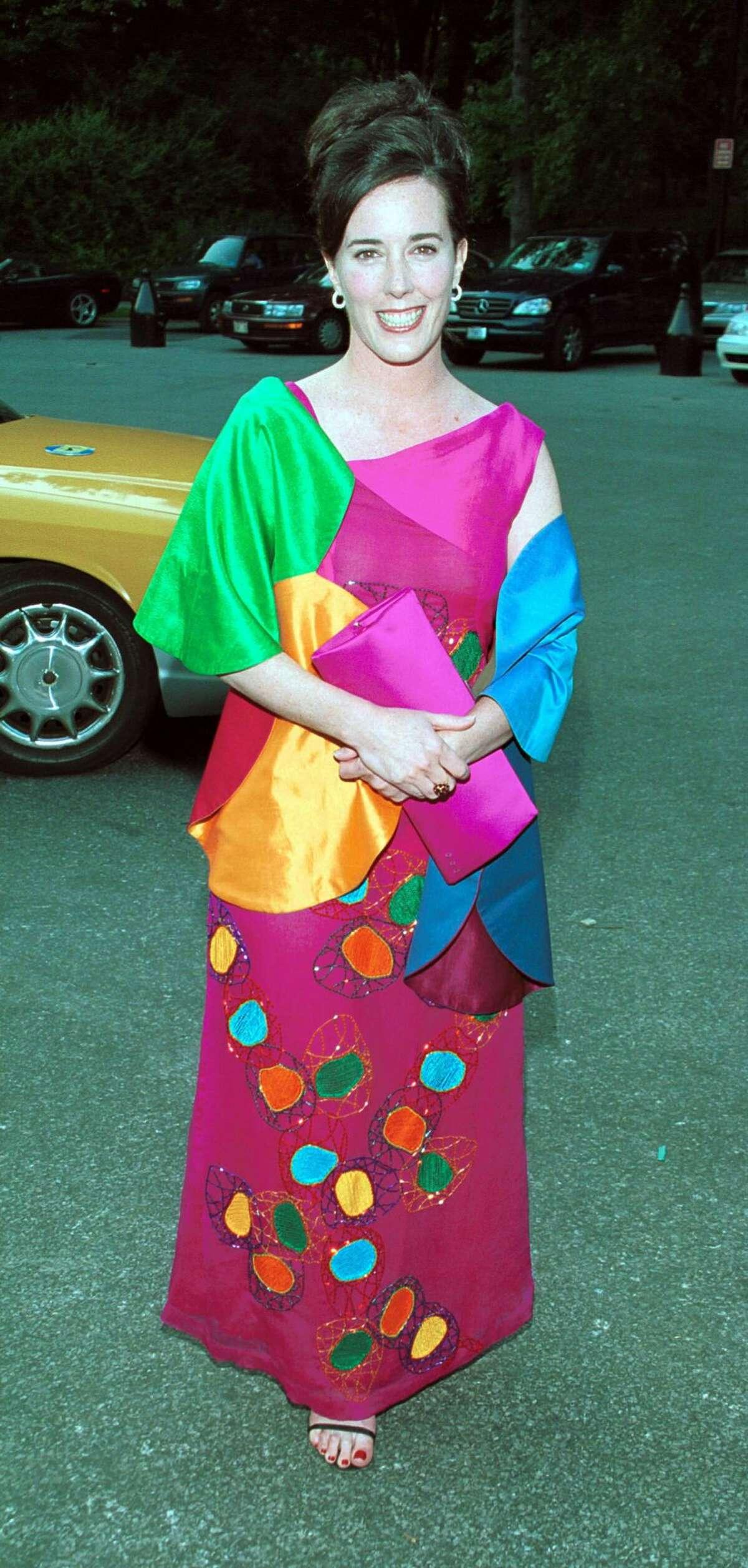 2000: Designer Kate Spade at
