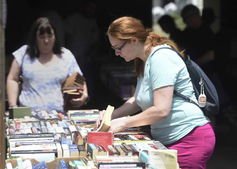 A giant book and media sale will be held this week to benefit the Byram Shubert Library. It will be held at St. Paul Lutheran Church, 55 William St. W., next door to the library. It kicks off from 5:30 to 8:30 p.m. Thursday with a special preview sale with a $20 entrance fee. There is no entrance fee for the rest of the sale, which will run from 5:30 to 8:30 p.m. Friday; 9 a.m. to 4 p.m. Saturday; and noon to 4 p.m. Sunday. The four-day event benefits the Friends of the Byram Shubert Library. Photo: File / Tyler Sizemore / Hearst Connecticut Media / Greenwich Time