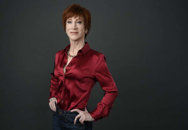 FILE - In this March 22, 2018 file photo, comedian Kathy Griffin poses for a portrait in Los Angeles. Griffin will be honored Tuesday, June 5, by West Hollywood for raising more than $5 million for HIV/AIDS services and LGBTQ causes. (Photo by Chris Pizzello/Invision/AP, File)
