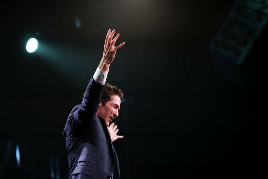 Joel Osteen rallies the Los Angeles crowd in worship, reminding them that God always has something better in store.