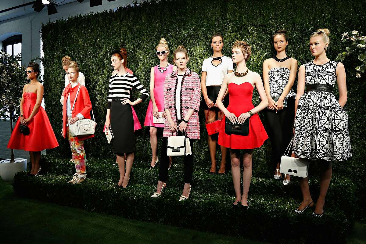 NEW YORK, NY - SEPTEMBER 06: Models pose during the Kate Spade New York presentation during Mercedes-Benz Fashion Week Spring 2014 at Center 548 on September 6, 2013 in New York City. (Photo by Cindy Ord/Getty Images)