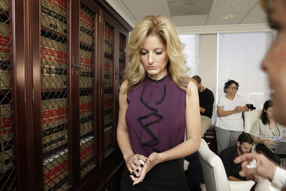 """Summer Zervos, who appeared on Season 5 of the reality show, """"The Apprentice,"""" said that Trump kissed her on the lips several times when she went to his office in 2007, during a press conference Friday, Oct. 14, 2016 with attorney Gloria Allred in Los Angeles, Calif. A judge has ruled Zervos can gather evidence on Trump's alleged misconduct with at least 10 women who went public with their accusations when he was running for president. Photo: Irfan Khan / Los Angeles Times 2016"""