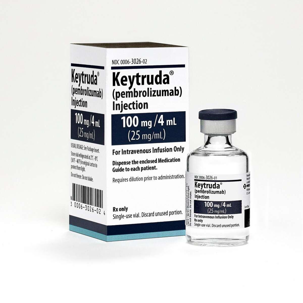 Keytruda is a prescription medicine used to treat a kind of skin cancer called melanoma Keytruda 100mg/4mL Vial and Carton 2015 (Michael Lund/Merck Global Creative Studios)