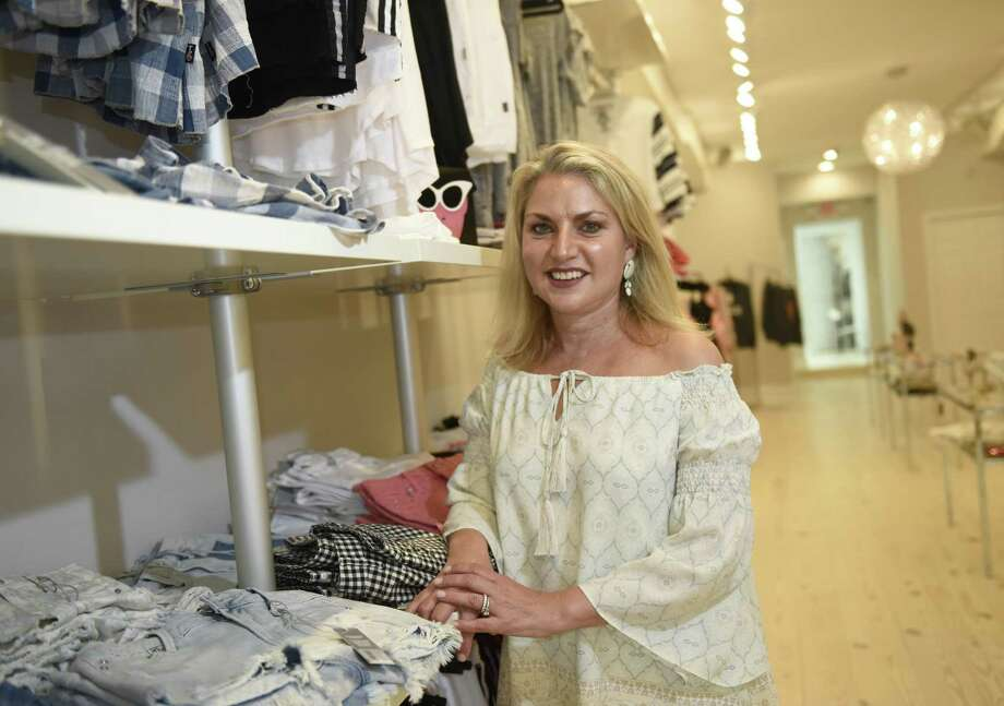 Owner Felicia Salazar  at the  young fashion and lifestyle boutique Fifi & Bella at 50 Greenwich Ave. in Greenwich. Photo: Tyler Sizemore / Hearst Connecticut Media / Greenwich Time