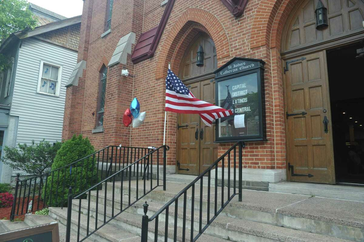 Six months after purchasing the former St. John's Evangelical Lutheran Church on the border of Albany's Washington Park neighborhood, Capital District Latinos marked the opening of its new community center on Friday, June 1 with a day of music, art, poetry and food. (Photo provided)