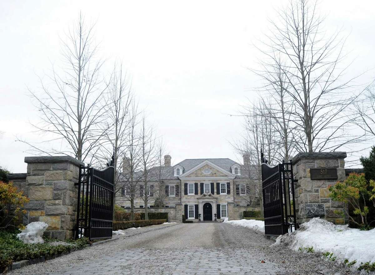 A cobblestone driveway leads to the gated home of Republican candidate for governor David Stemerman, seen in this 2014 file photo.