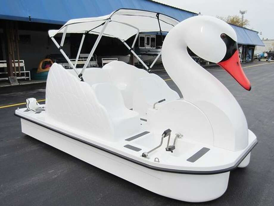 "The Woodlands Township Board of Directors approved the purchase of nearly a dozen ""swan boats"" to place on The Woodlands Waterway. The boats will be based at the Riva Row Boathouse and available for rentals. Township officials will announce when the boats will be available to the public for rental during the Aug. 7 event. Photo: Courtesy Photo / Courtesy Photo"