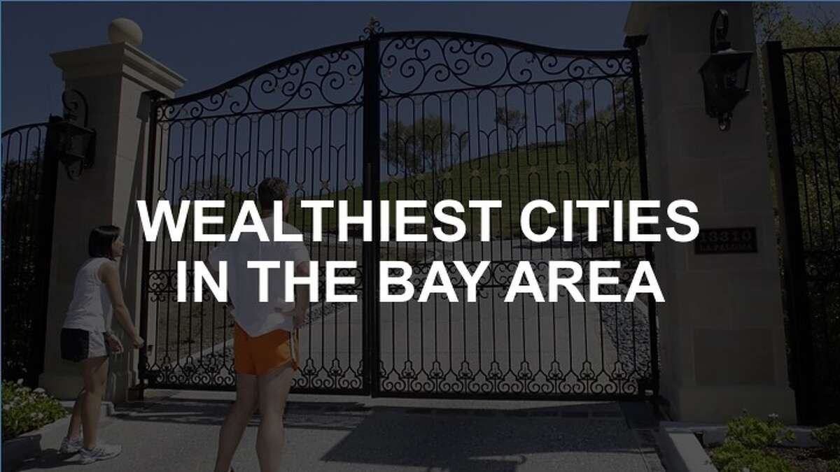 Click through the slideshow to see the wealthiest cities in the Bay Area - where households exceed a median annual income of $200,000.