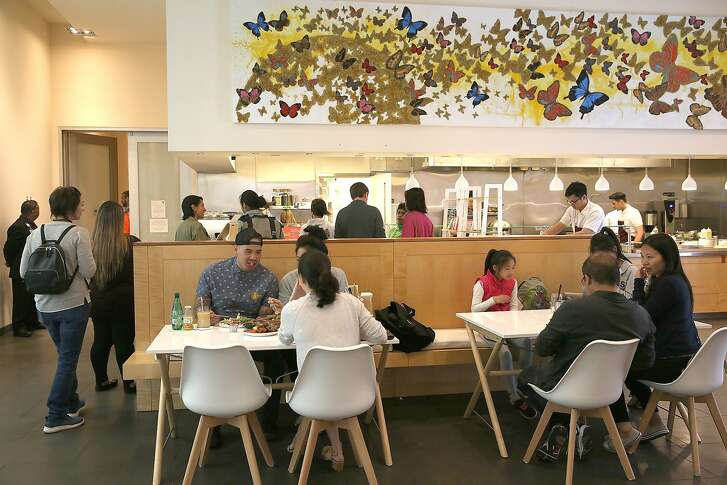 Sunday at the Museum, the new cafe inside the Asian Art Museum seen during the lunch hour on Friday, June 1, 2018 in San Francisco, Calif.