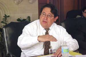George Hernandez, president and CEO of University Health System, seen in 2015, said he views the $10,000 tax ememption for Bexar County residents older than 65 recommended by the hospital's board of managers as a potential stepping stone to larger tax relief.