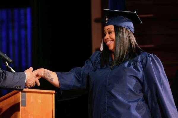 Bridgeport Adult Education Graduation at the Klein Memorial Auditorium in Bridgeport, Conn., on Tuesday, June 5, 2018.