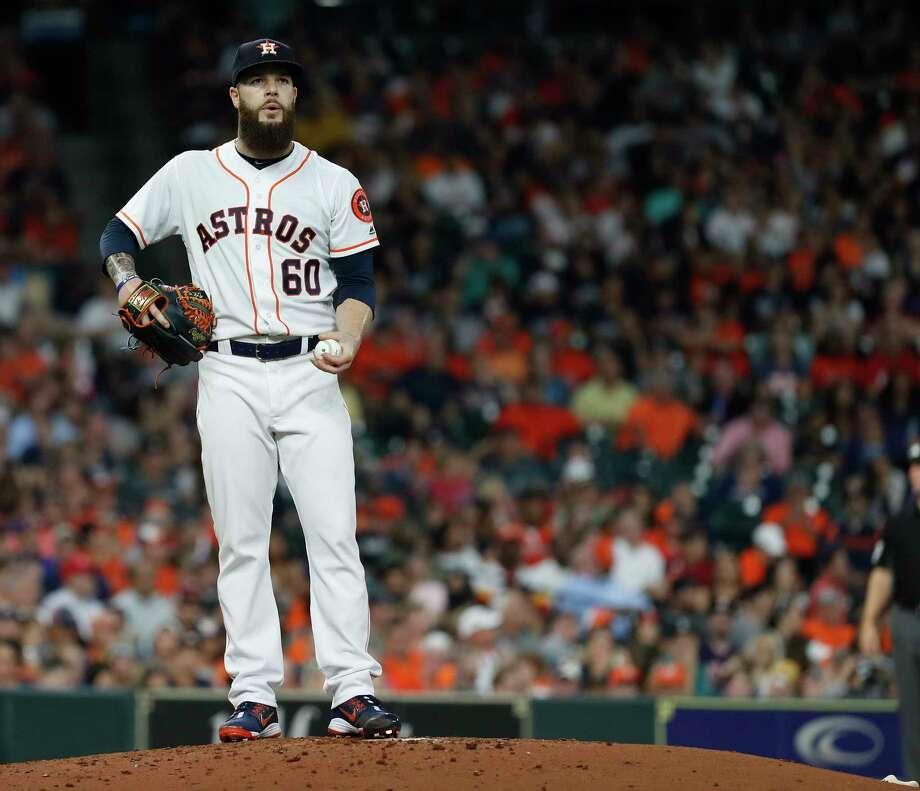 Astros starter Dallas Keuchel has had his struggles during the first inning of games this season. Photo: Karen Warren, Houston Chronicle / © 2018 Houston Chronicle