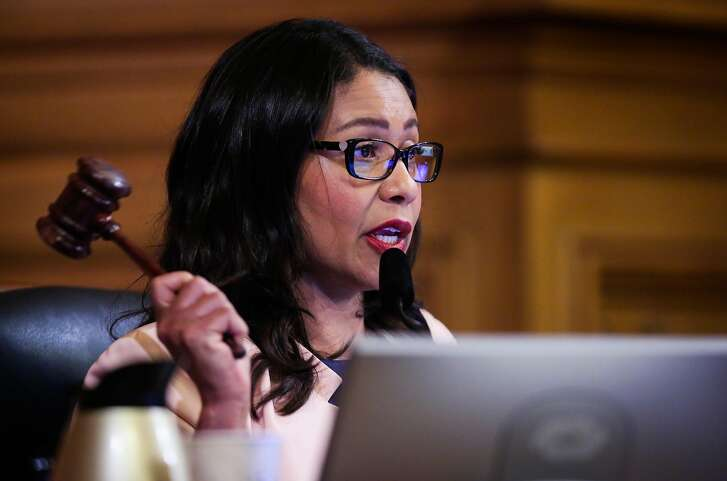 San Francisco mayoral candidate and Board of Supervisors President London Breed during a Board of Supervisors meeting at City Hall in San Francisco, California, on Tuesday, June 5, 2018.