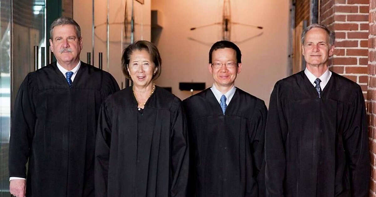 (Left to right) Judge Curtis Karnow, Judge Cynthia Ming-mei Lee, Judge Andrew Cheng and Judge Jeffrey Ross.