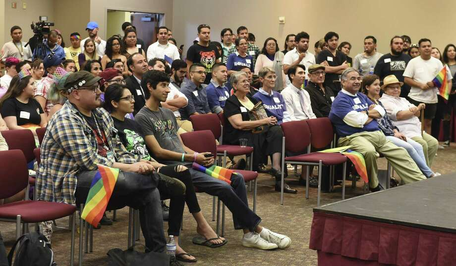Laredoans attend the Campus Ally Network's pride event at TAMIU on Tuesday. Photo: Danny Zaragoza / Laredo Morning Times / Laredo Morning Times