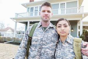 A military couple might have married too young.