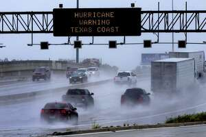 Texas Trans Guide warns motorists Saturday August 26, 2017 about Hurricane Harvey.